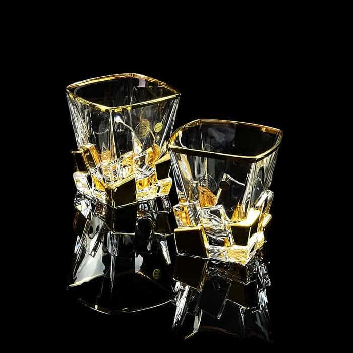 LORD Стакан 300 мл для виски, набор 2 шт, хрусталь/декор золото 24К