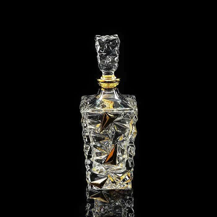MONTE CRISTO Графин для виски 0,85 л. H29 см, хрусталь/декор золото 24К