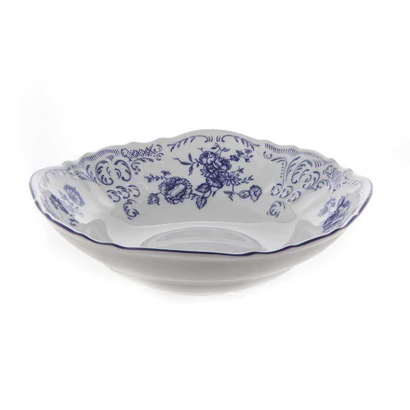 Бернадотт Синие розы 24074 Салатник круглый 23 см