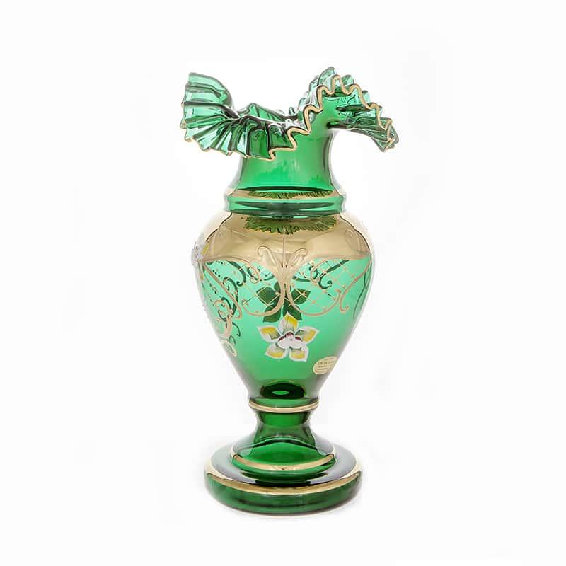 Лепка зеленая 83220 Ваза для цветов на ножке U. Glass 30 см