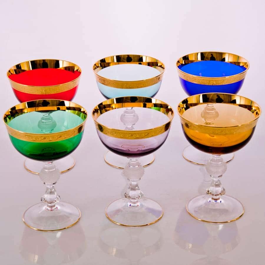 Джесси Колорс синий Набор креманок для мартини Kvetna 300 мл (2 шт)
