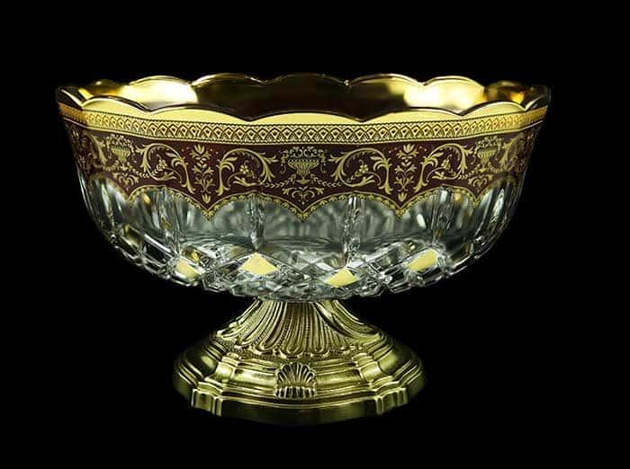 Опера Империя Ваза для фруктов Astra Gold на ножке 23 см.