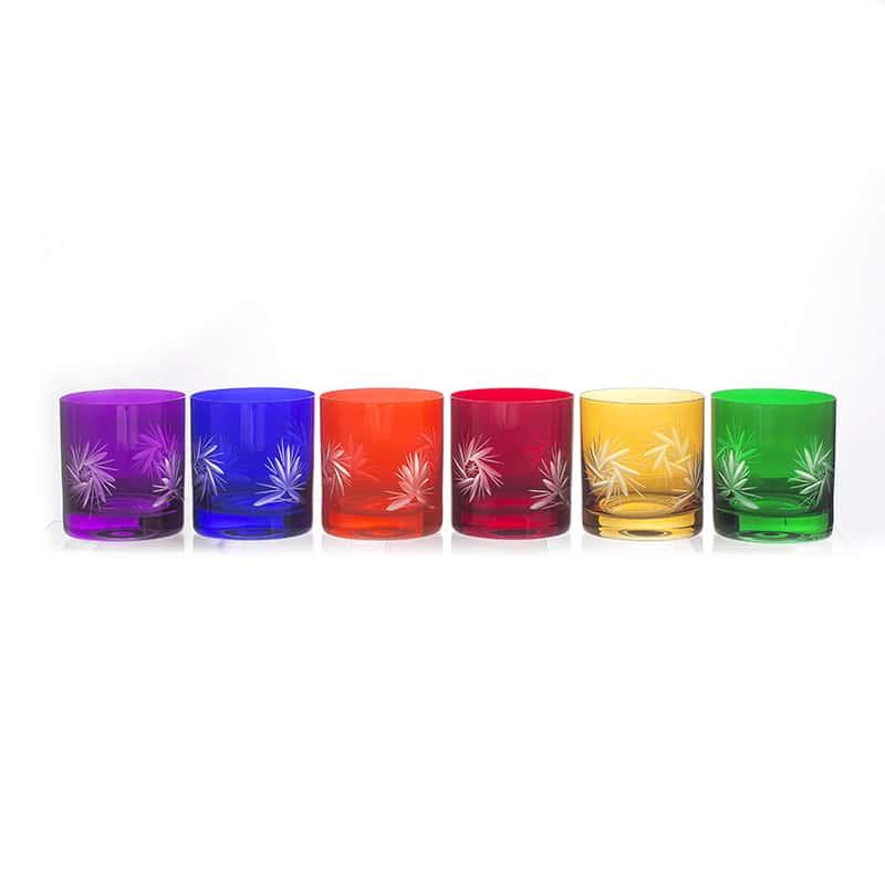 Хрусталь цветной Набор стаканов для виски U. Glass 320 мл