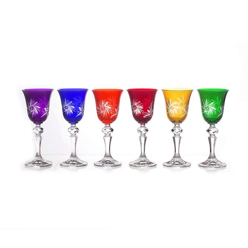 Хрусталь цветной Набор рюмок для водки U. Glass 60 мл