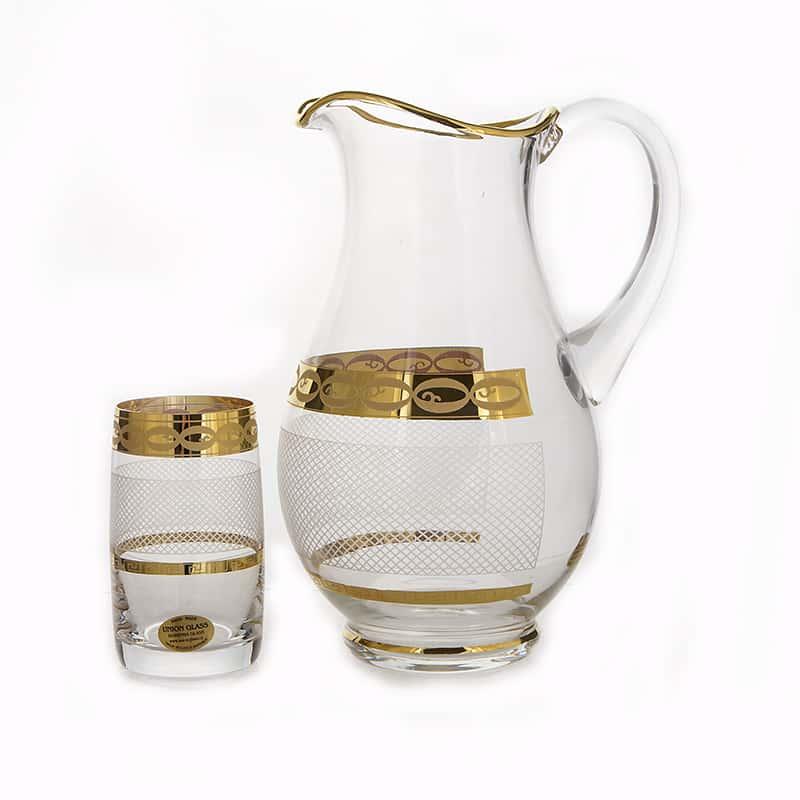 Декор 6011 - Сетка Идеал Набор для воды U. Glass на 6 перс. 7 пред.