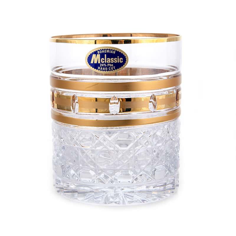 Золотые окошки 4 Набор стаканов для виски Mclassic 320 мл. 6 шт.