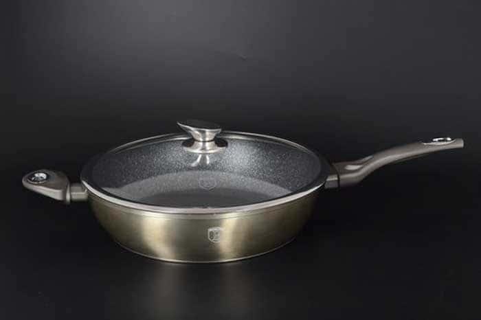 Carbon Metallic Line серый Сковорода с крышкой Berlinger Haus 28 см