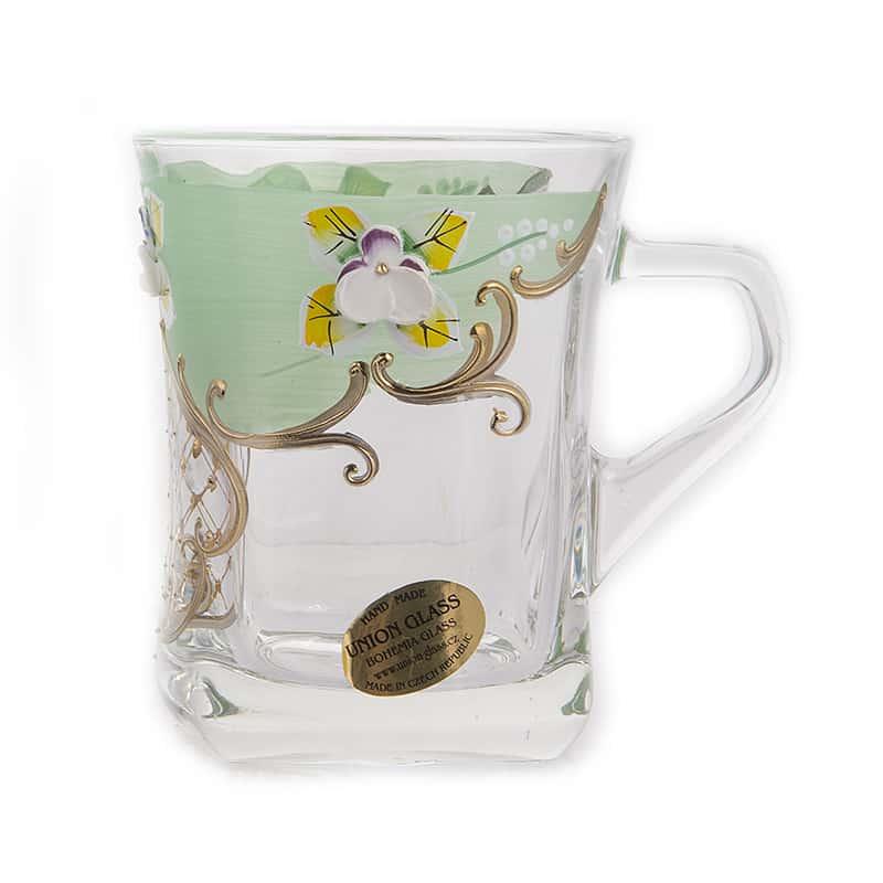 Лепка зеленая Набор кружек для чая Union Glass  6 шт.