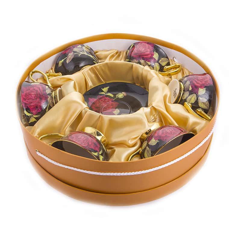 Черные Набор для чая Yuzu на 6 перс. 12 пред.