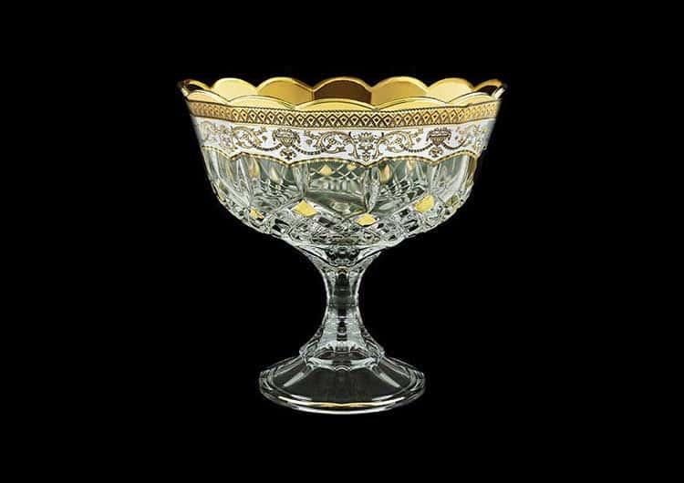 Опера Империя белая Ваза для конфет на ножке Astra Gold 18 см
