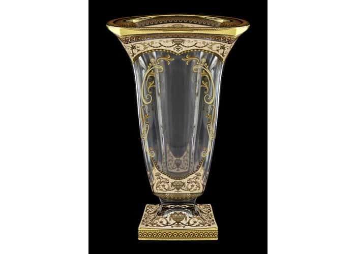 Магма Империя бежевая Ваза для цветов Astra Gold 33 см