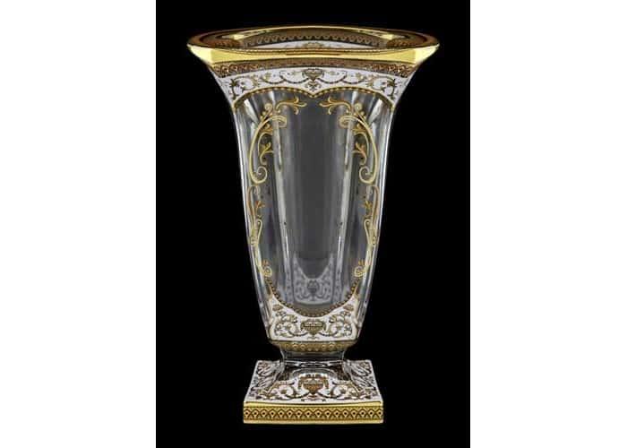 Магма Империя белая Ваза для цветов Astra Gold 33 см