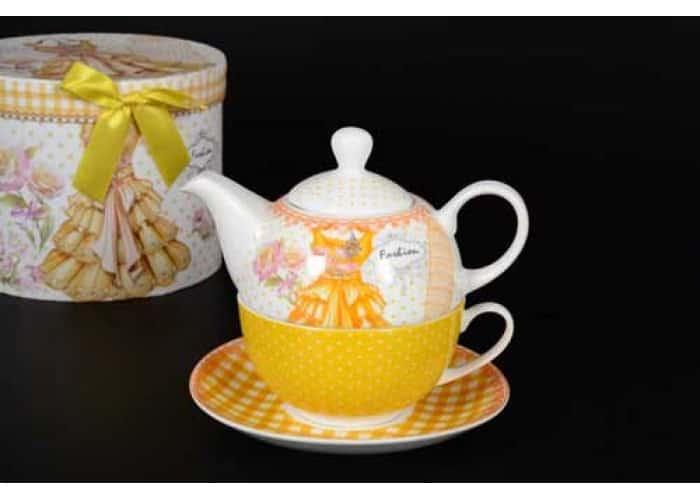 Fashion Чашка с блюдцем и чайник в подарочной упаковке