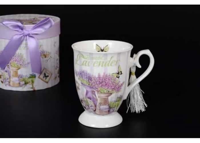 Бабочки Lavender Кружка в подарочной упаковке