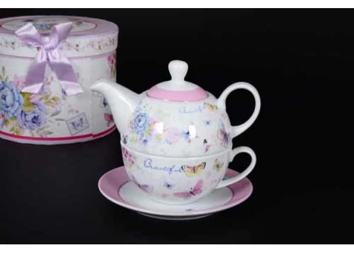 Beautiful Чашка с блюдцем и чайник в подарочной упаковке