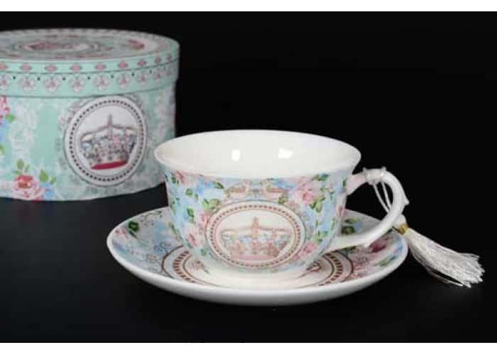 Crown Чашка с блюдцем в подарочной упаковке