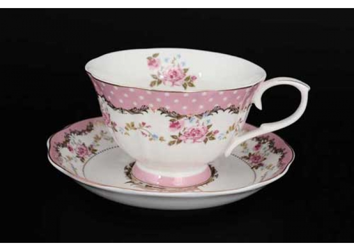 Розы Набор чайных пар 6 шт