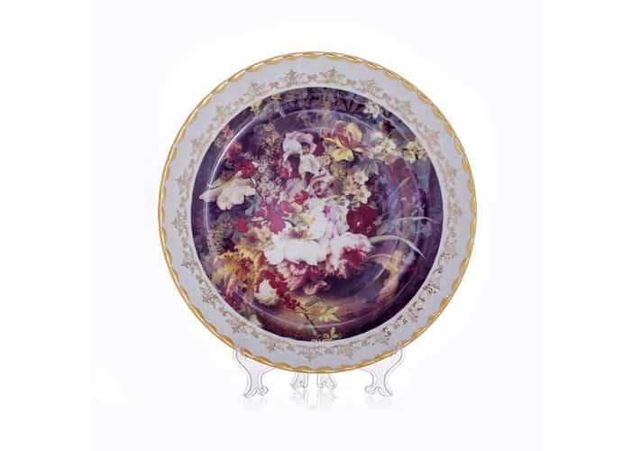 Цветы 5 Настенная тарелка Bavarian Porcelain 32 см