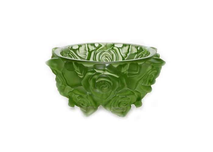 Фрост Розы Зеленый Ваза для конфет Crystalite 16,5 см