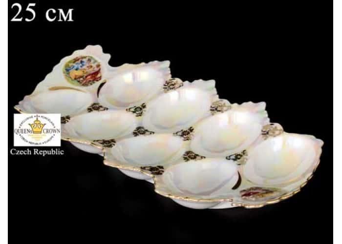 Мадонна перламутр Корона 0001 Поднос для яиц 25 см QC