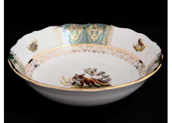 Болеро Охота Зеленая Набор салатников Royal Czech Porcelain 19 см