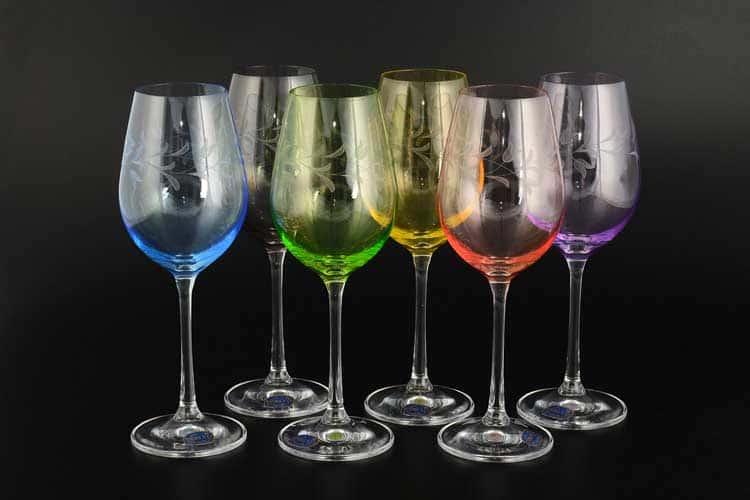 Виола Колорс Набор бокалов для вина Bohemia Crystal 250 мл