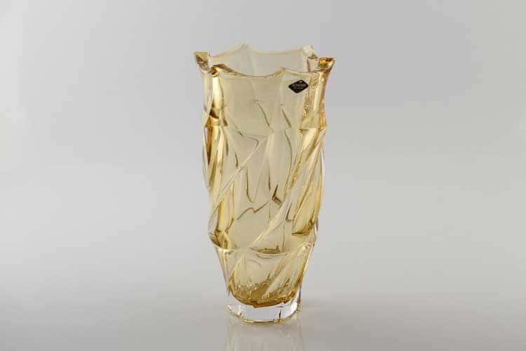 Фламенко желтая Ваза для цветов Bohemia Treasury 30 см