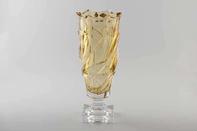 Фламенко желтая Ваза для цветов Bohemia Treasury 38 см