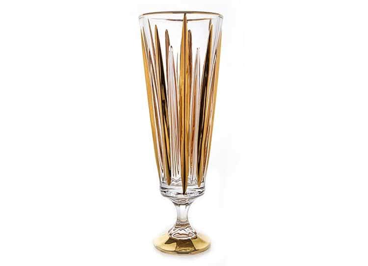 Венус Матовая Ваза для цветов на ножке Union Glass 37 см