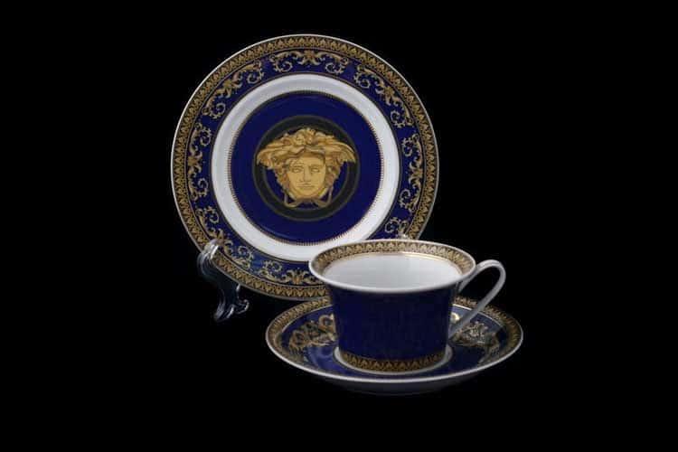 Медуза синяя Пара чайная Rosenthal 2 пред.