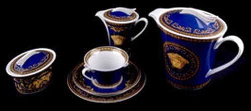 Медуза синяя Чайный сервиз Rosenthal на 6 перс 15 пред.