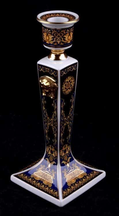 Медуза синяя Подсвечник Rosenthal Versace 21 см