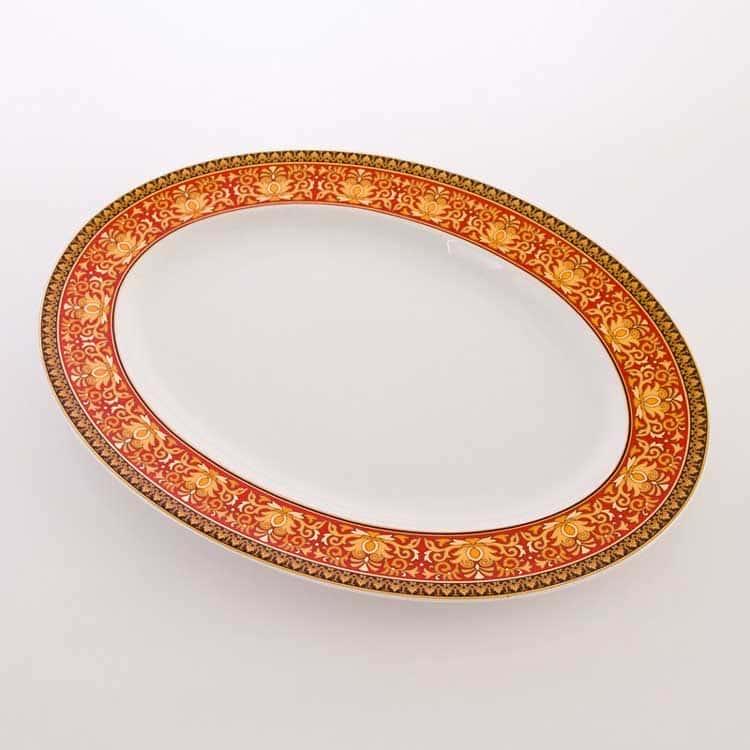 Медуза красная Блюдо овальное 40 см Rosenthal Versace
