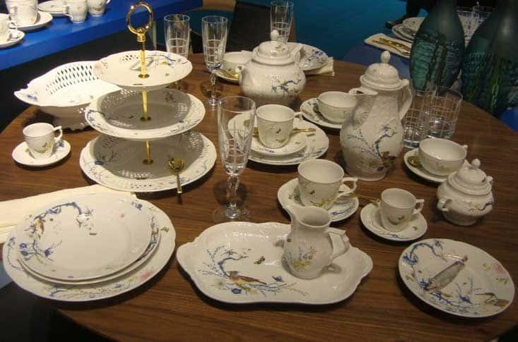 Шамбре синий Чайный сервиз Rosenthal Versace на 6 перс. 21 пред.