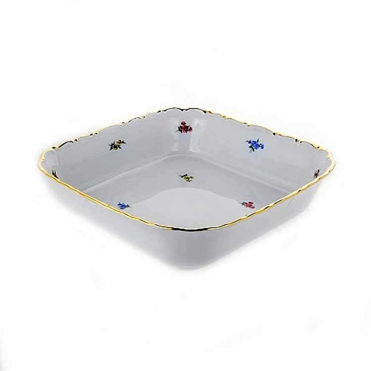 Блумен Салатник квадратный 24 см Bavarian Porcelain