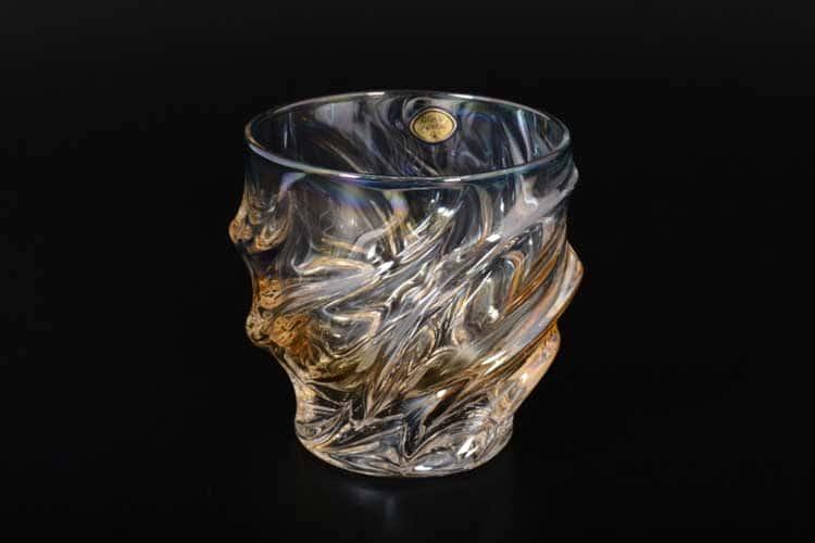 Волна Медовая Набор стаканов 320 мл 6 шт Gold Crystal