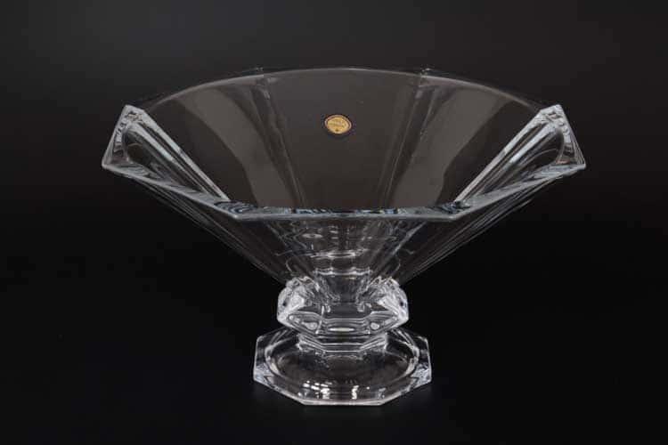 Стелла Ваза для фруктов Gold Crystal 33 см на ножке