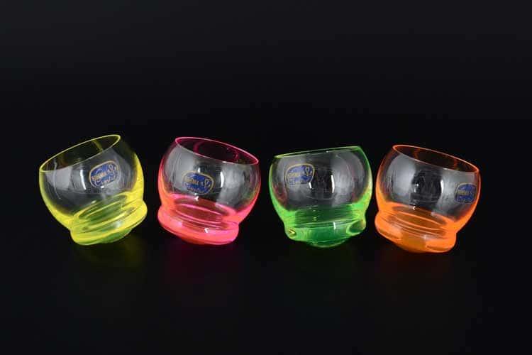 Crazy Неон Кристалекс Набор стопок для водки Bohemia Crystal 60 мл (4 шт)