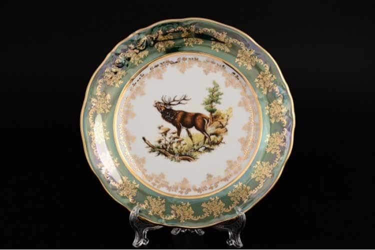 Офелия Зеленая охота Набор тарелок 21 см Moravec 6 шт.