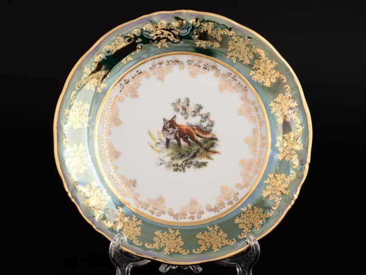 Офелия Зеленая охота Набор тарелок Moravec 19 см 6 шт.