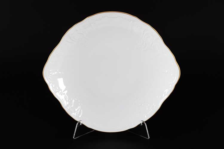 Белый узор Е-М Тарелка для торта 27 см Jeremy