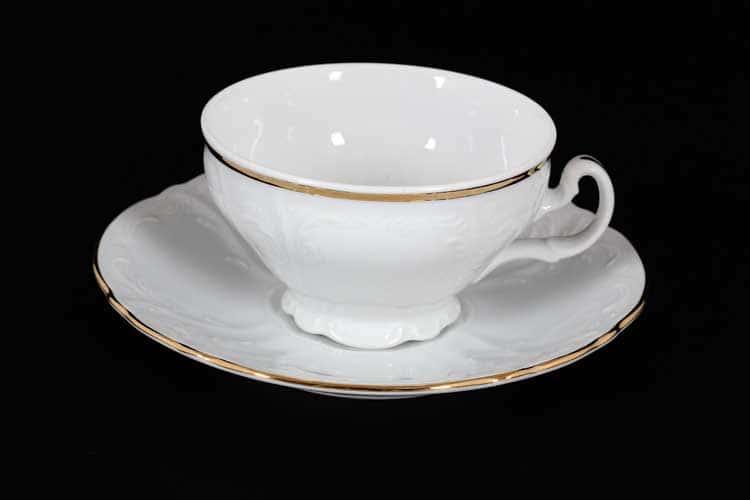 Белый узор Е-М Набор чайных пар 150 мл низкие Jeremy