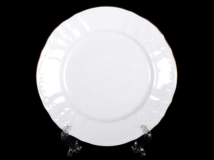 Белый узор Е-М Набор тарелок 17 см Jeremy