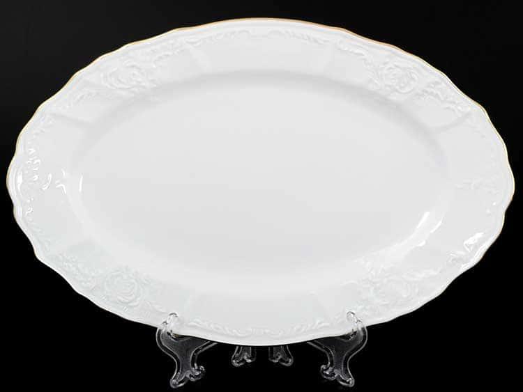 Белый узор Е-М Блюдо овальное 26 см Jeremy