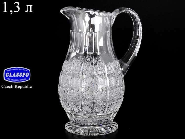 Glasspo Графин хрустальный 1,3 л Чехия