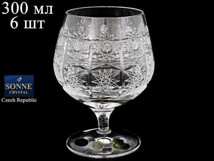 Sonne Crystal Набор бокалов для бренди 300 мл