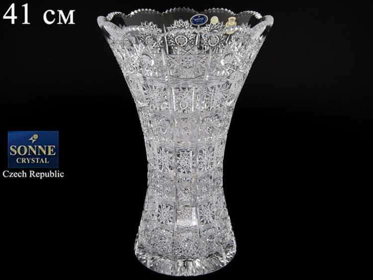 Sonne Crystal Ваза для цветов 41 см иксовка