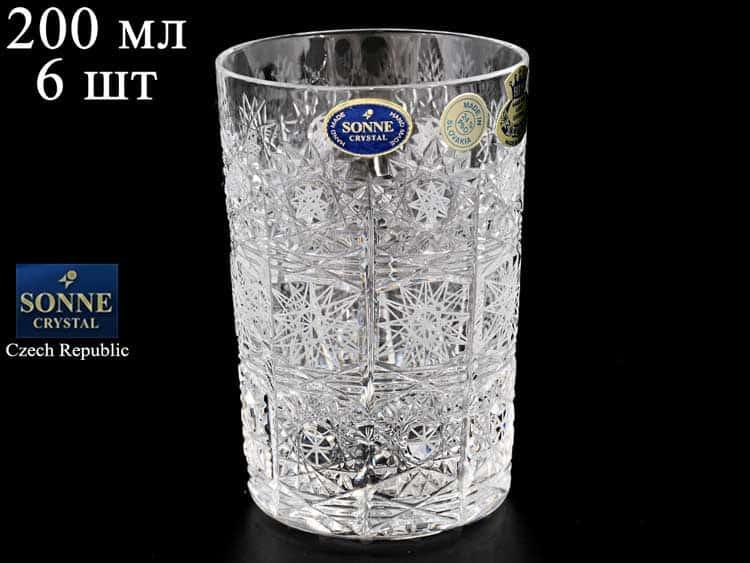 Sonne Crystal Набор стаканов для воды 200 мл (6 шт)