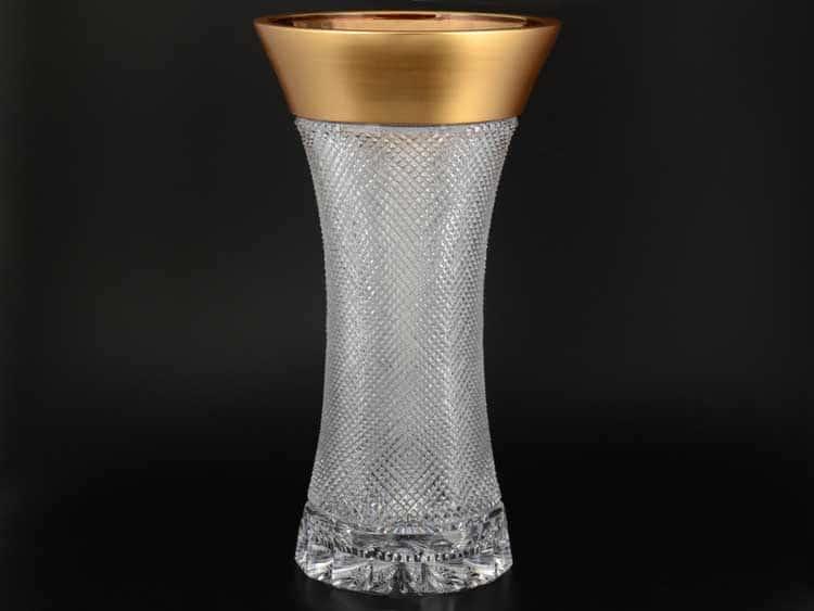 Фелиция Sonne Crystal Золото Ваза для цветов 40 см иксовка