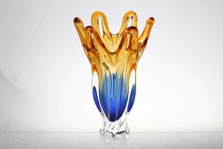 Егерманн синяя Ваза для цветов 35 см